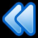 無料のアイコン素材 青矢印